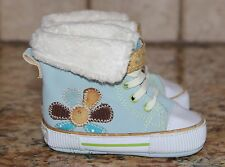 EXCELLENT Size 1 Boys Blue Carters infant booties boots flexible stiff material