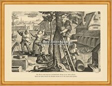 Apicultura; colmena colmena enjambre de cera miel grabado Stradanus a2 45