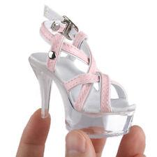 Zapatos De Cuero 52# Rosa y Blanco 1/3 SD DZ AOD DOD STUI BJD dollfie Taco Alto