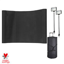 8' Pop Up Trade Show Display Exhibit Booth Deluxe Curved Banner Spotlights