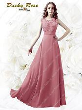 Floor-length Lace back / Georgette Bridesmaid Dress/Petite Sheath/Column Bateau