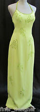 PRECIOUS FORMALS Beaded sexy sheath Evening Pageant Gown Prom Dress lime size 12
