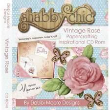 Debbi Moore Diseños Vintage Rosa Manualidades con papel Inspiración CD Rom