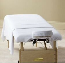 1 NEW WHITE MASSAGE TABLE FLAT DRAW SHEET MUSLIN T130 54X82 SPA SELECTS BRAND