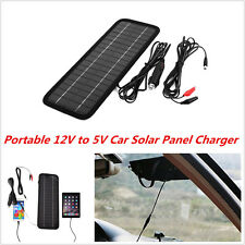 Portable Car Solar Panel Battery Maintainer Charger Outdoor For Autos Truck Boat