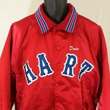Satin Jacket Vtg Insulated Hart Winning Team Made In USA Red Blue Mens 2XL EUC