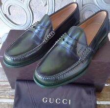 New Gucci Camaleon Leather Penny Loafer Shoes Uk Sz 9.5  /US 10 Verde ��❤️��