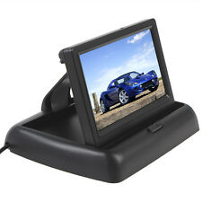 4.3 Inch 2-CH Video IN Foldable TFT-LCD Smart Car Rear View Monitor Pedestal 12V
