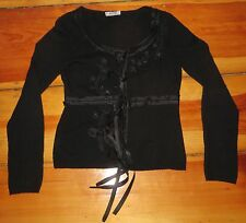 MOSCHINO CHEAP AND CHIC black cashmere CARDIGAN SWEATER Size 6