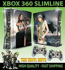 XBOX 360 SLIM CALL OF BOOTY ARMY GIRLS 01 STICKER SKIN & 2 PAD SKINS
