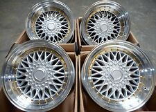 "15"" DARE SILVER POLISHED ALLOY WHEELS 4X100 FITS HONDA CIVIC CRX & TOYOTA MR2"