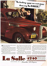 Vintage 1939 Magazine Ad LaSalle Built By Cadillac Is Super Fine Car At Low Cost