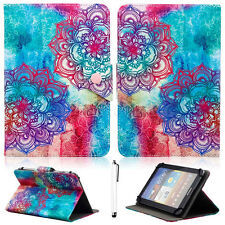 "Classic Mandala Universal Leather Case Cover For RCA Voyager II 7"" 7-inch Tablet"