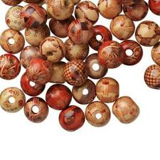 4184 Wood Round Beads Brown 12mm PK100 *UK EBAY SHOP*