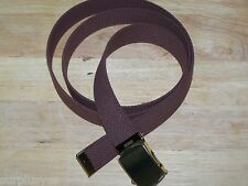 Belt Web Brown Army Military Style f Jeans Khaki Phone School Fashion Sport P38