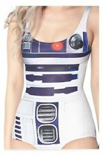 Women's Star Wars R2-D2 Costume Beach Makeup Party One Piece Swimwear Swimsuits