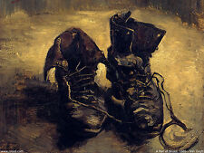 Framed Print - Vincent Van Gogh Replica Old Boots Shoes (Picture Poster Painting