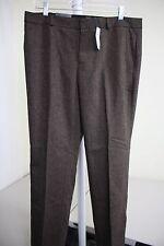 NWT $70 Banana Republic Reegan Wool Blend Brown & Black Lined Dress Pants Sz-10