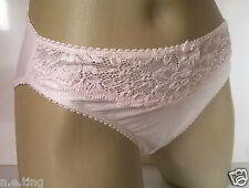 Baby Pink Jacquard Silky Stretch High Leg Panties Knickers UK S 10 Euro 38