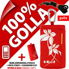 New Golla Red Phone Case Cover Pouch Bag for/fits Nokia 6303 102 106 108 220 225