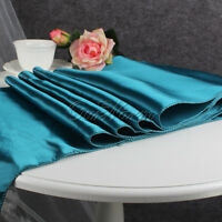 """5 Wedding Satin Table Runners 12"""" x 108""""Party Banquet Dinning Decoration Colors"""