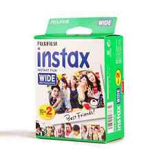 Fujifilm Instax Mini Instant Film White Wide 20 Sheets For 300 200 210 100 500AF