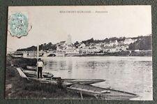 CPA. BEAUMONT SUR OISE. 95 - Panorama. Barque. Batelier. 1906 ou 1908.