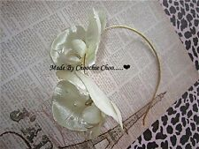 Ivory Pearl Beaded Orchid Gold Hair Head Band Choochie Choo Bridesmaids Bridal