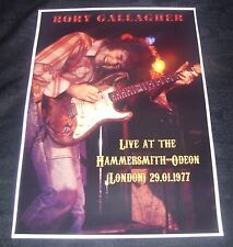 Rory Gallagher concert poster Hammersmith Odeon UK 1977  A3 size repro