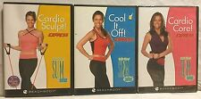 3 Debbie Siebers Slim in 6 Express DVD lot, Cardio Sculpt Core Cool it Off