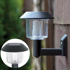 Solar Powered Wall Light Auto Sensor Fence LED Garden Yard Fence Lamp Outdoor HF