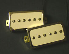 Dragonfire H90s Humbucker-Sized Cased P90s Set, Ivory- Gold