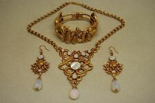ASKEW LONDON JEWELRY COSTUME ART NOUVEAU SET NECKLACE BRACELET EARRINGS SNAKE