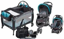 New Baby Stroller Car Seat, Nursery Playard, 8 Piece Diaper Bag Travel System