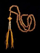 Bodhi Seed & Agate Buddhist Mala 108 Bead Tibetan Meditation Prayer Necklace #A