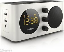 Philips Clock Radio AJ6000 Charge Mobile Phone/USB Device White