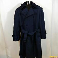FASHION WORLD USA PolyCotton RAINCOAT Rain Trench Coat Mens M 40 w/ liner Blue