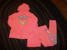 GIRLS JUSTICE GYMNAST SWEATSUIT PANTS HOODIE SIZE 14