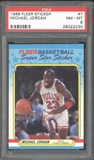 1988 Fleer #7 Sticker  Michael Jordan  MJ GRADED PSA 8 + 1984 ROOKIE XRC RC HOT!