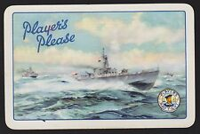 1 Single VINTAGE Swap/Playing Card PLAYERS NAVY FRIGATE BLUE Cigarettes Tobacco