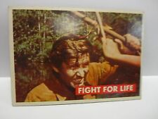 1956 T.C.G. Davy Crockett Green Fight For Life  Card # 30-A