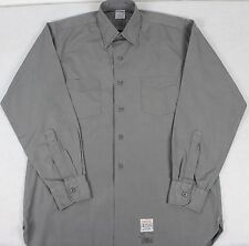 Vintage Cannon Gray Police Fire Work Shirt US Union Made Sanforized Poplin Small