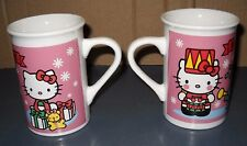 VTG 2 HELLO KITTY 1976-2013 COFFEE CUPS HOT CHOCOLATE MUGS CHRISTMAS NUTCRACKERS