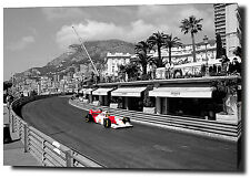 "AYRTON SENNA CANVAS 30""x20"" ART PRINT POSTER PHOTO PICTURE F1  MONACO WALL ART"
