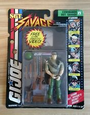 1994 G.I. JOE SGT. Savage Commando Sgt. Savage with VHS New on Sealed Card ~ NOS