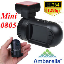 HD 1080P Pro 1296P Mini 0805 Car Dash Cam DVR Camera Ambarella A7 GPS UK STOCK