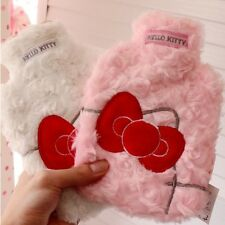 New Cute Hello Kitty Bow Bowknot Plush Warm Hot Water Bottle Cover Bag 400ml