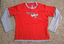 Georgia Bulldogs NCAA SS/LS Shirt ~ Youth Large L ~ Red Gray College