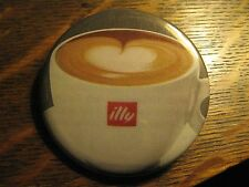Illy Espresso Coffee Cappuccino Cup Logo Advertisement Pocket Lipstick Mirror