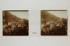 Fouilles au site archéologique Éphèse Turquie Turkey Vintage Plaque stéréo 1903